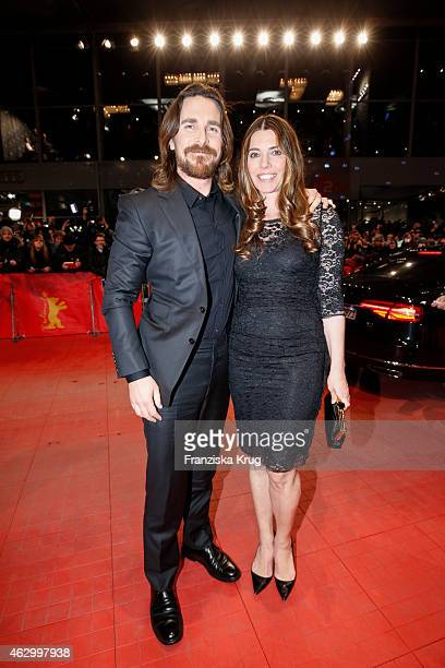 Christian Bale and Sibi Blazic attend the 'Knight of Cups' premiere during the 65th Berlinale International Film Festival at Berlinale Palace on...