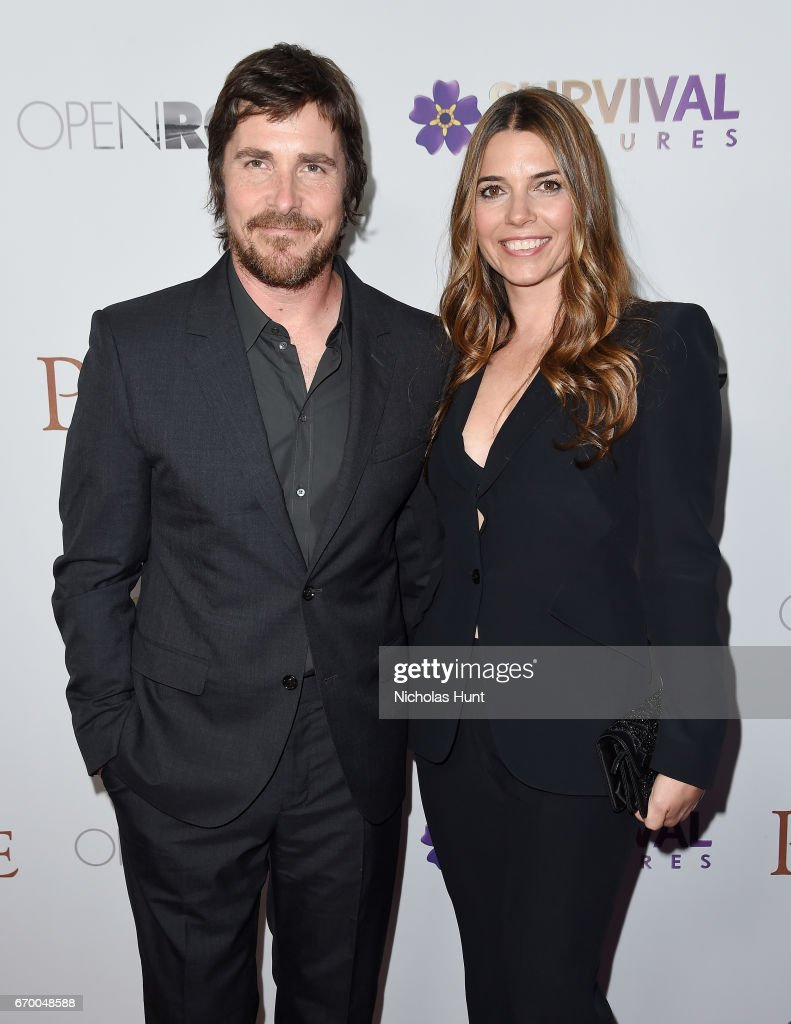 Christian Bale and Sibi Blazic attend the New York Screening of 'The Promise' at The Paris Theatre on April 18, 2017 in New York City.