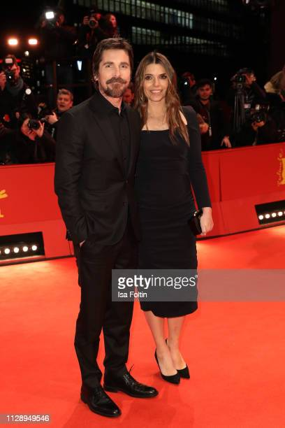 Christian Bale and Sibi Blazic pose at the Vice premiere during the 69th Berlinale International Film Festival Berlin at Berlinale Palace on February...