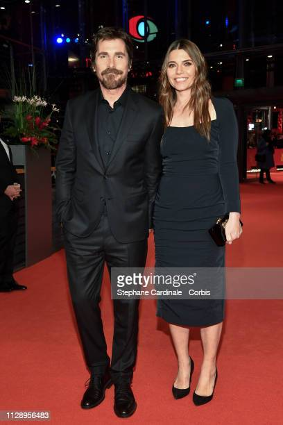 Christian Bale and Sibi Blazic pose at the 'Vice' premiere during the 69th Berlinale International Film Festival Berlin at Berlinale Palace on...