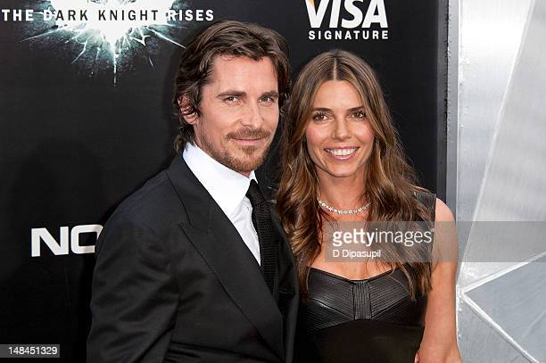 "Christian Bale and wife Sibi Blazic attend ""The Dark Knight Rises"" world premiere at AMC Lincoln Square Theater on July 16, 2012 in New York City."