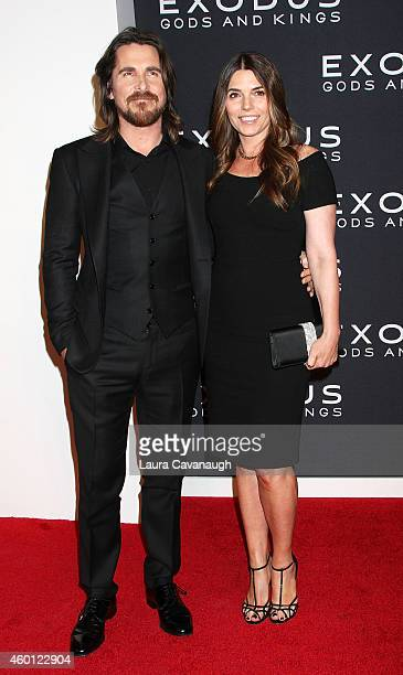 Christian Bale and wife Sibi Blazic attend the 'Exodus Gods And Kings' New York Premiere at Brooklyn Museum on December 7 2014 in New York City