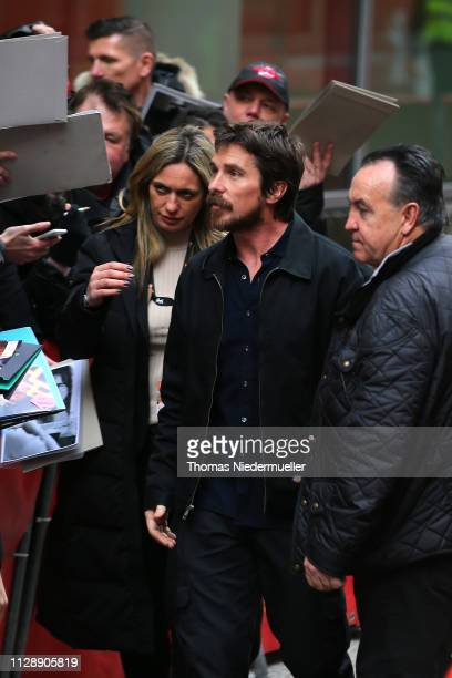Christian Bale arrives at the Vice photocall during the 69th Berlinale International Film Festival Berlin at Grand Hyatt Hotel on February 11 2019 in...