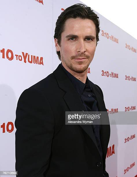 Christian Bale at the Los Angeles premiere of '310 to Yuma' at Mann National Theatre on August 21 2007 in Westwood California