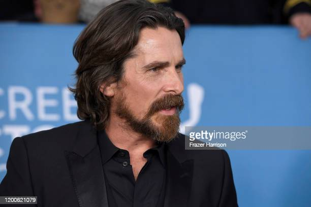 Christian Bale attends the 26th Annual Screen ActorsGuild Awards at The Shrine Auditorium on January 19 2020 in Los Angeles California