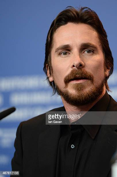 Christian Bale attends the 'American Hustle' press conference during 64th Berlinale International Film Festival at Grand Hyatt Hotel on February 7...