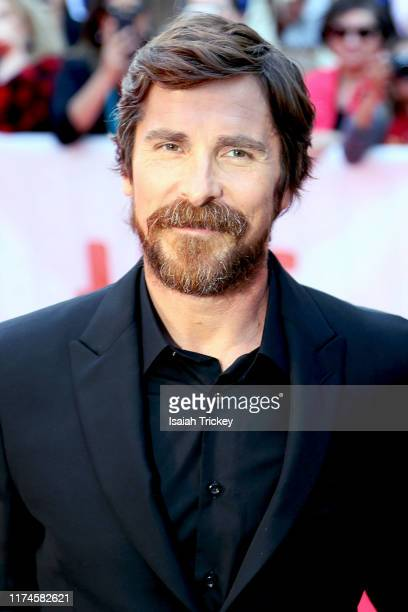 "Christian Bale attends the ""Ford v Ferrari"" premiere during the 2019 Toronto International Film Festival at Roy Thomson Hall on September 09, 2019 in..."