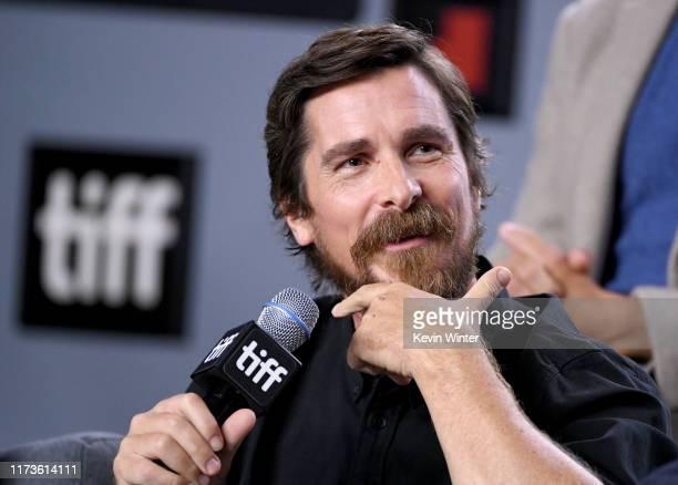 Christian Bale attends the Ford v Ferrari press conference during the 2019 Toronto International Film Festival at TIFF Bell Lightbox on September 10...