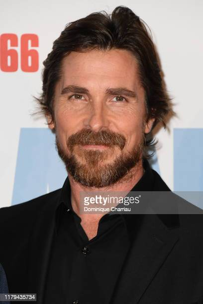 Christian Bale attends the Le Mans 66 Premiere At Cinema Gaumont Champs Elysees on October 06 2019 in Paris France