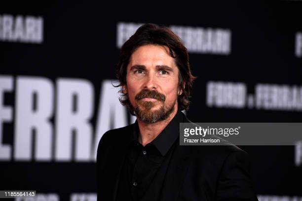"""Christian Bale attends the Premiere Of FOX's """"Ford V Ferrari"""" at TCL Chinese Theatre on November 04, 2019 in Hollywood, California."""