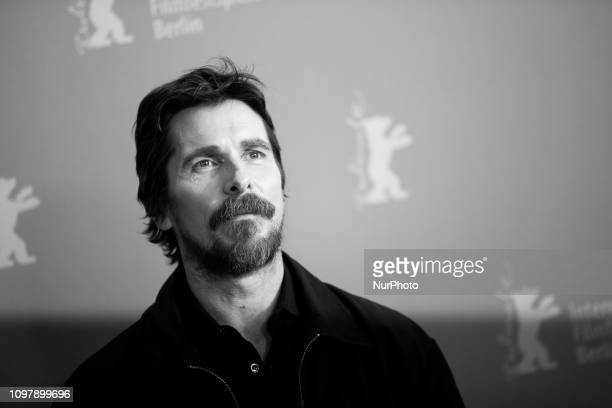 Image was converted to black and white) Christian Bale attends the 'Vice' Photocall during the 69th Berlinale International Film Festival Berlin at...