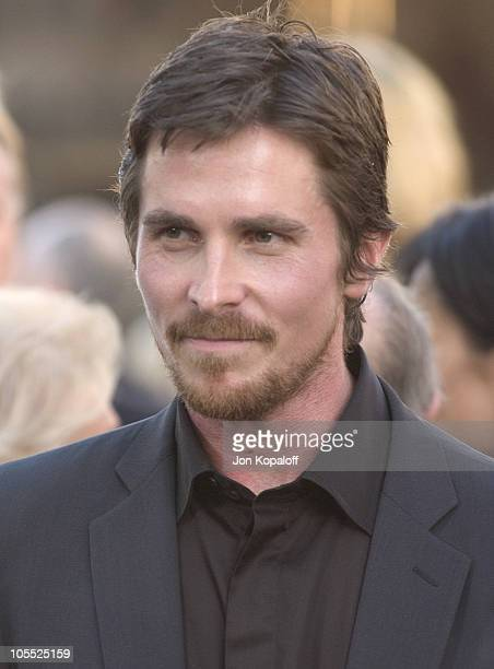 Christian Bale during 'Batman Begins' Los Angeles Premiere Arrivals at Grauman's Chinese Theater in Hollywood California United States
