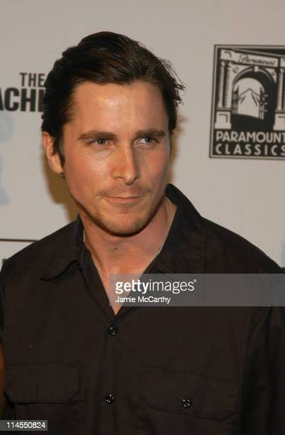 Christian Bale during The IFP Market and Conference Premiere of 'The Machinist' Inside Arrivals at Ziegfeld Theater in New York City New York United...