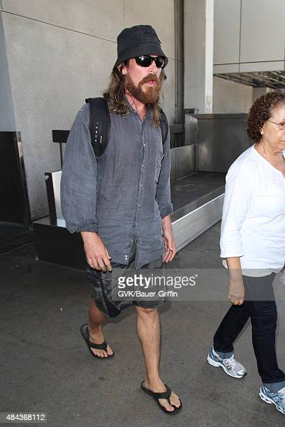 Christian Bale is seen at LAX on August 17 2015 in Los Angeles California
