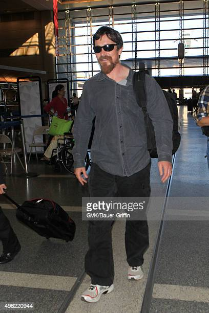 Christian Bale is seen at LAX on November 21 2015 in Los Angeles California