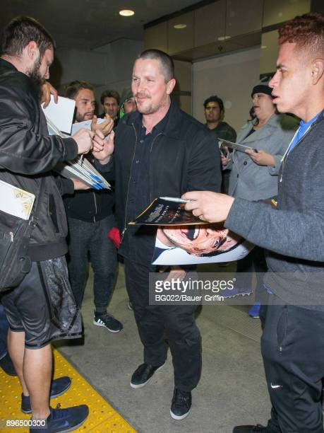 Christian Bale is seen at Los Angeles International Airport on December 20 2017 in Los Angeles California