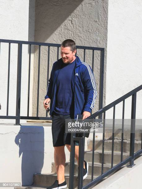Christian Bale is seen on January 11 2018 in Los Angeles California