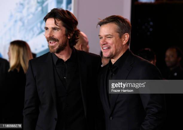 Christian Bale Matt Damon attend the Premiere Of FOX's Ford V Ferrari at TCL Chinese Theatre on November 04 2019 in Hollywood California