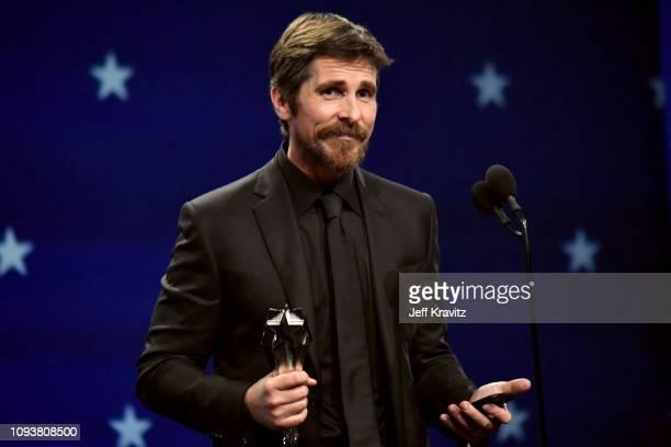 Christian Bale onstage at The 24th Annual Critics' Choice Awards at Barker Hangar on January 13 2019 in Santa Monica California