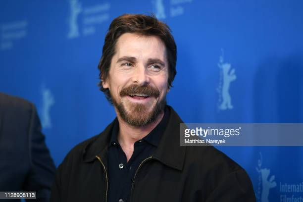 """Christian Bale poses at the """"Vice"""" photocall during the 69th Berlinale International Film Festival Berlin at Grand Hyatt Hotel on February 11, 2019..."""