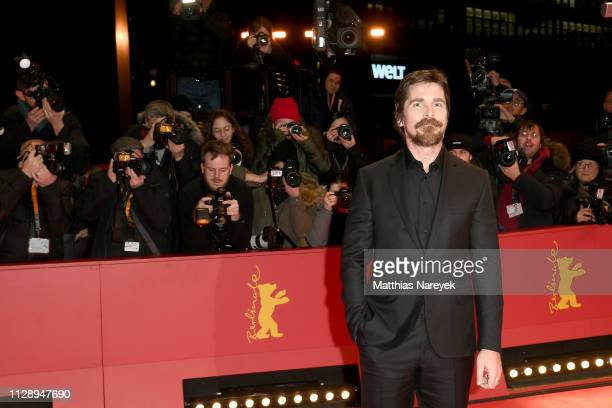 """Christian Bale poses at the """"Vice"""" premiere during the 69th Berlinale International Film Festival Berlin at Berlinale Palace on February 11, 2019 in..."""