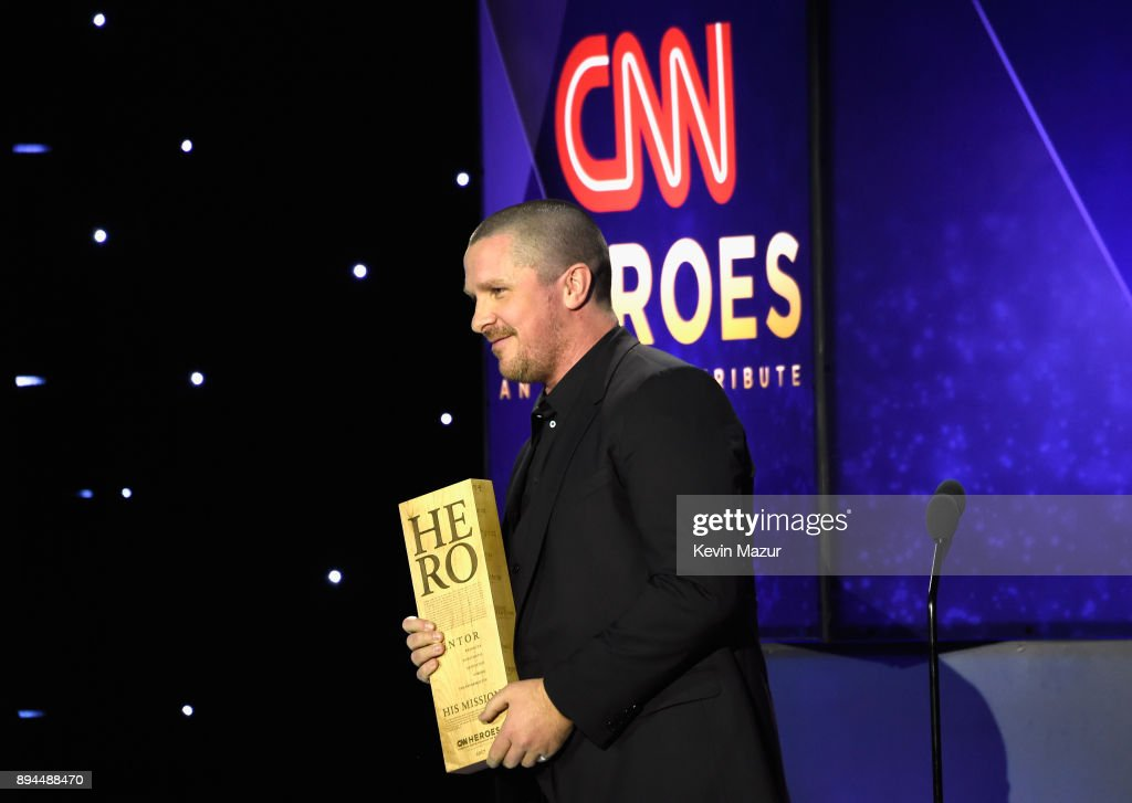 Christian Bale speaks onstage during CNN Heroes 2017 at the American Museum of Natural History on December 17, 2017 in New York City. 27437_015