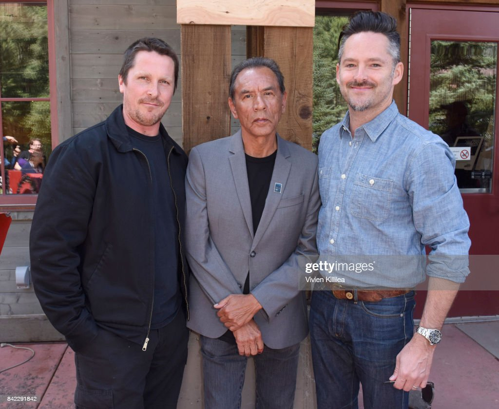 Christian Bale, Wes Studi, and Scott Cooper attend the Telluride Film Festival 2017 on September 3, 2017 in Telluride, Colorado.