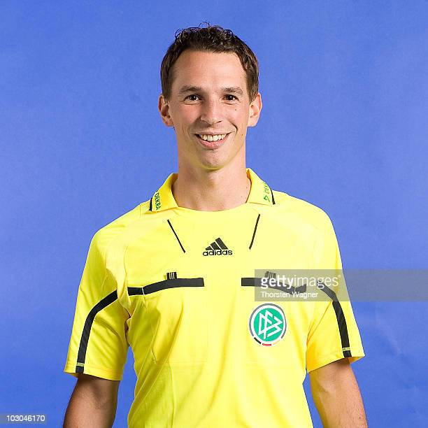 Christian Bandurski poses during the German Football Association photocall at the Dekra Congress Center on July 22 2010 in Altensteig Germany