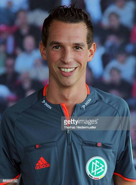 Christian Bandurski poses during the German Football Association referee meeting on July 9 2009 in Altensteig Germany