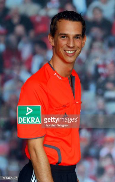Christian Bandurski referee of the German Football Association poses during the DFB Referee Photocall at the Sportschule Kaiserau in Kamen near...