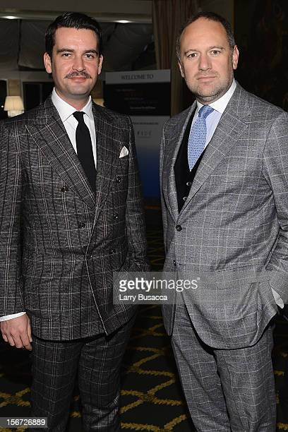 Christian Barker and David Leppan attend the speaker and sponsor dinner of the 2012 International Herald Tribune's Luxury Business Conference held at...