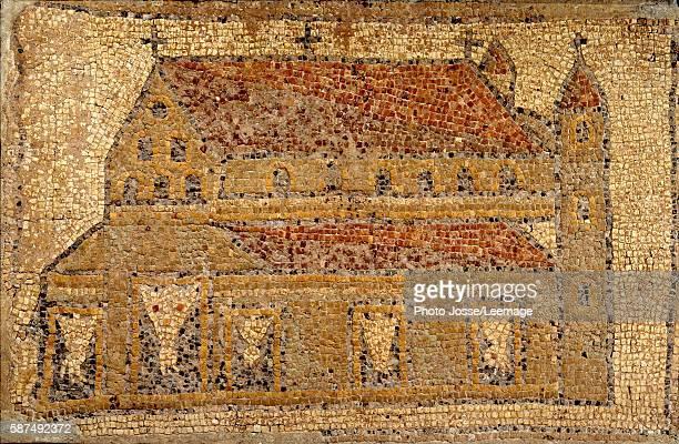 Christian basilica, mosaic pavement, Roman period, 2nd half of 5th century AD . Louvre Museum, Paris