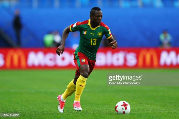 Christian Bassogog of ameroon in action during the FIFA Confederations Cup Russia 2017 Group B match between Cameroon and Australia at Saint...