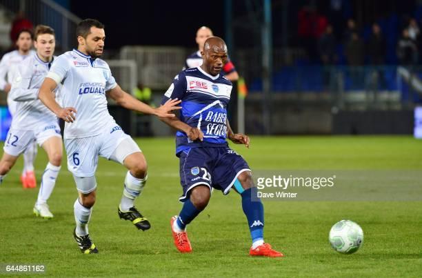 Christian BEKAMENGA / Jamel AIT BEN IDIR - - Auxerre / Troyes - 24e journee Ligue 2, Photo : Dave Winter / Icon Sport