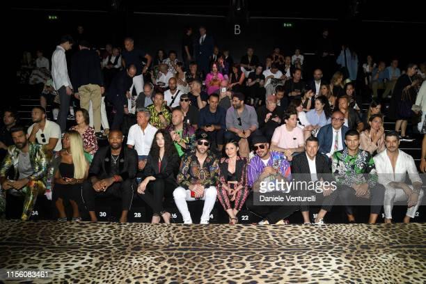 Christian Bendek Guest PJ Tucker Deva Cassel Giusy Ferreri Takagi Ketra Girolamo Panzetta Marco Fantini and Kadu Dantas attend Dolce Gabbana Front...