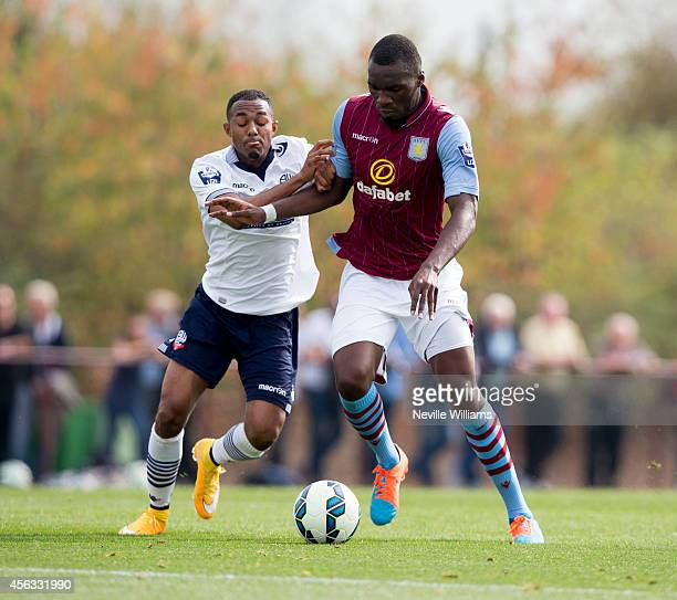 Christian Benteke of Aston Villa during the Barclays U21 League match between Aston Villa and Bolton Wanderers at the Aston Villa training ground...