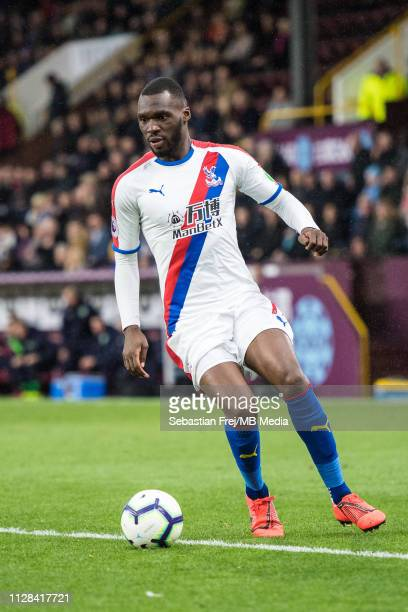 Christian Benteke of Crystal Palace control ball during the Premier League match between Burnley FC and Crystal Palace at Turf Moor on March 2 2019...
