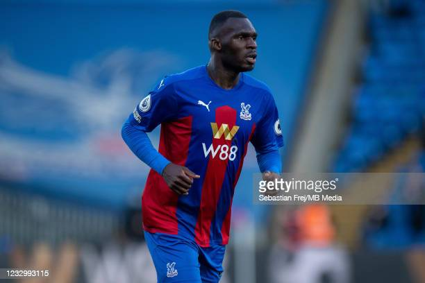 Christian Benteke of Crystal Palace during the Premier League match between Crystal Palace and Arsenal at Selhurst Park on May 19, 2021 in London,...