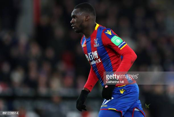 Christian Benteke of Crystal Palace during the Premier League match between Crystal Palace and Watford at Selhurst Park on December 12 2017 in London...