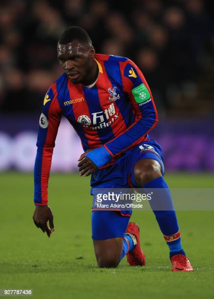 Christian Benteke of Crystal Palace during the Premier League match between Crystal Palace and Manchester United at Selhurst Park on March 5 2018 in...