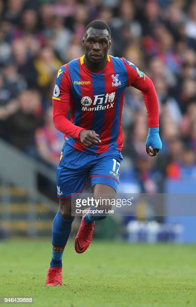Christian Benteke of Crystal Palace during the Premier League match between Crystal Palace and Brighton and Hove Albion at Selhurst Park on April 14...