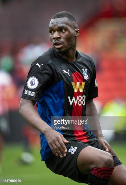 Christian Benteke of Crystal Palace in action during the Premier League match between Sheffield United and Crystal Palace at Bramall Lane on May 8,...