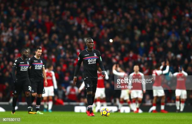Christian Benteke of Crystal Palace look dejected during the Premier League match between Arsenal and Crystal Palace at Emirates Stadium on January...