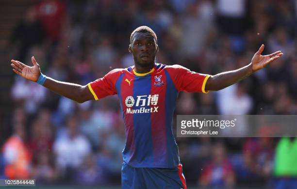 Christian Benteke of Crystal Palace reacts during the Premier League match between Crystal Palace and Southampton FC at Selhurst Park on September 1...