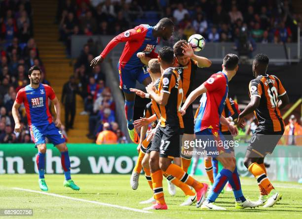 Christian Benteke of Crystal Palace scores his sides second goal during the Premier League match between Crystal Palace and Hull City at Selhurst...