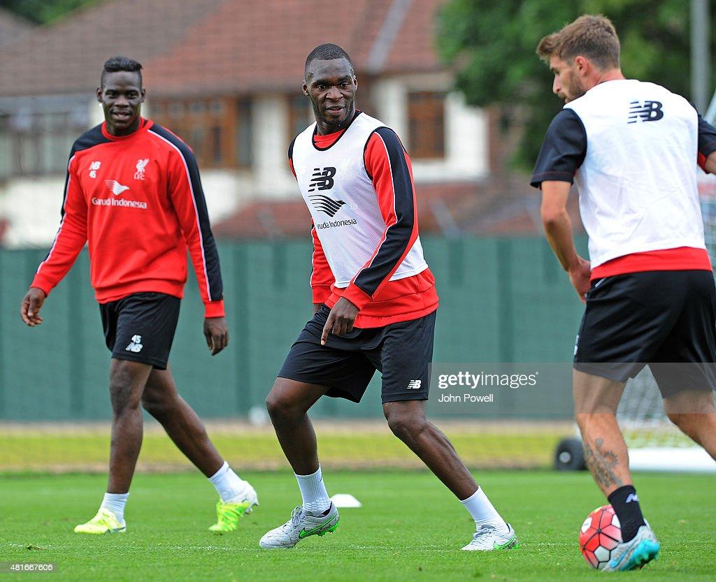 Liverpool Unveil New Signing Christian Benteke : News Photo
