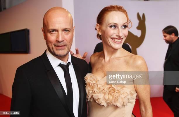 Christian Berkel and Andrea Sawatzki arrive for the Bambi 2010 Award at Filmpark Babelsberg on November 11, 2010 in Potsdam, Germany.