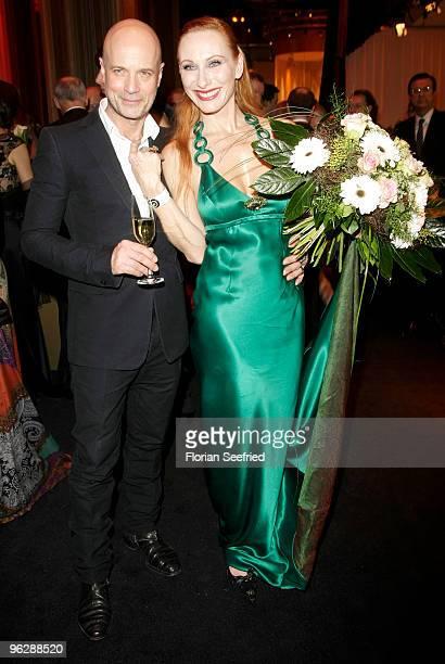 Christian Berkel and Andrea Sawatzki attend the Goldene Kamera 2010 Award at the Axel Springer Verlag on January 30, 2010 in Berlin, Germany.