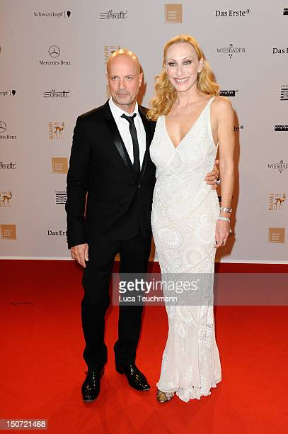 Christian Berkel and Andrea Sawatzki attend the Red Carpet for the Bambi Award 2011 ceremony at the RheinMainHallen on November 10 2011 in Wiesbaden...