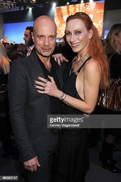 Christian Berkel and Andrea Sawatzki attend the Touareg World Premiere at the Postpalast on February 10, 2010 in Munich, Germany.